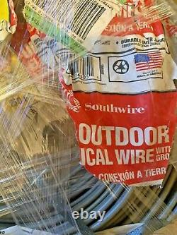 250' 12/2 Gray Solid CU UF-B WithG Copper Wire Outdoor Direct Burial Feeder cable