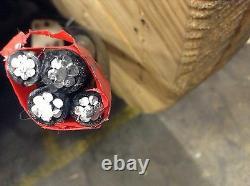 300' Windham 750-750-750-500 Quadruplex Aluminum URD Direct Burial Cable 600V