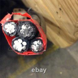 350' Dyke 2-2-2-4 Quadruplex Aluminum URD Cable Direct Burial Wire 600V
