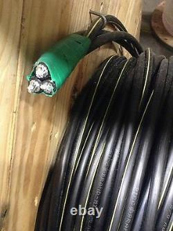 600' Wesleyan 350-350-4/0 Triplex Aluminum URD Wire Direct Burial Cable 600V