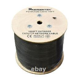 FTP CAT6 1000FT Shielded Outdoor 23AWG F/UTP Cable Wire Direct Burial UV