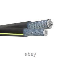 1000' Delgado 4-4 Duplex En Aluminium Urd Câble De Sépulture Directe 600v