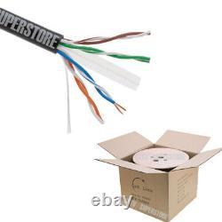 1000ft Cat6 Câble Extérieur 23 Awg Utp Fils Solides Direct Burial Uv Imperméable