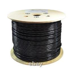 1000ft Cat6a Stp Shielded Direct Burial Cable 23awg Solid Copper Wire 550mhz