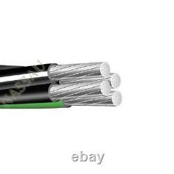100' 2-2-4-6 Câble D'alimentation Mobile En Aluminium Câble D'enfouissement Direct 600v