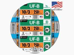 250 Pi 10/3 Uf-b Wg Underground Feeder Direct Burial Wire/cable Roll