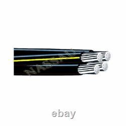 500' Dyke 2-2-2-4 Quadruplex Aluminium Urd Câble Direct Burial Wire 600v