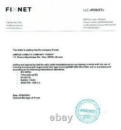 Câble Blindé Pour L'enfouissement Direct 24 Fibre Optique Corning Smf-28 Bobine 3000m/9842 Ft